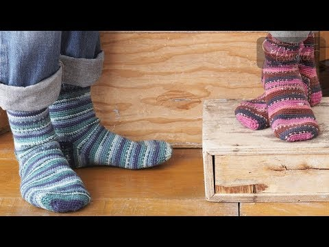 Crochet Family Socks - Toddlers To Adults