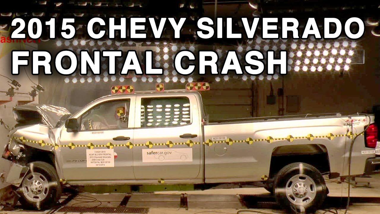 2015 chevy silverado gmc sierra 2500hd crew cab frontal crash test crashnet1 youtube