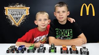 MONSTER JAM TOY REVIEW McDonald's Happy Meal Toys Fall 2015