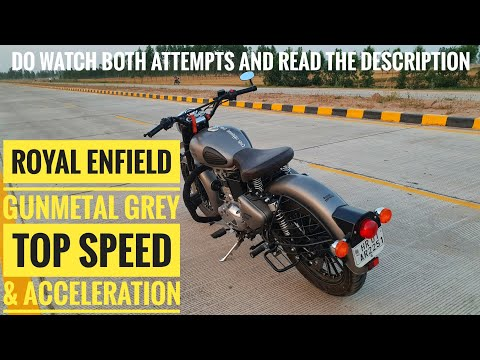 Gunmetal Grey Top Speed | Royal Enfield Classic 350 Acceleration | 0-100 Kmph