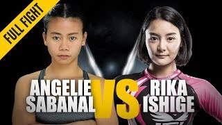 ONE: Full Fight   Angelie Sabanal vs. Rika Ishige   Striking Showcase   March 2018