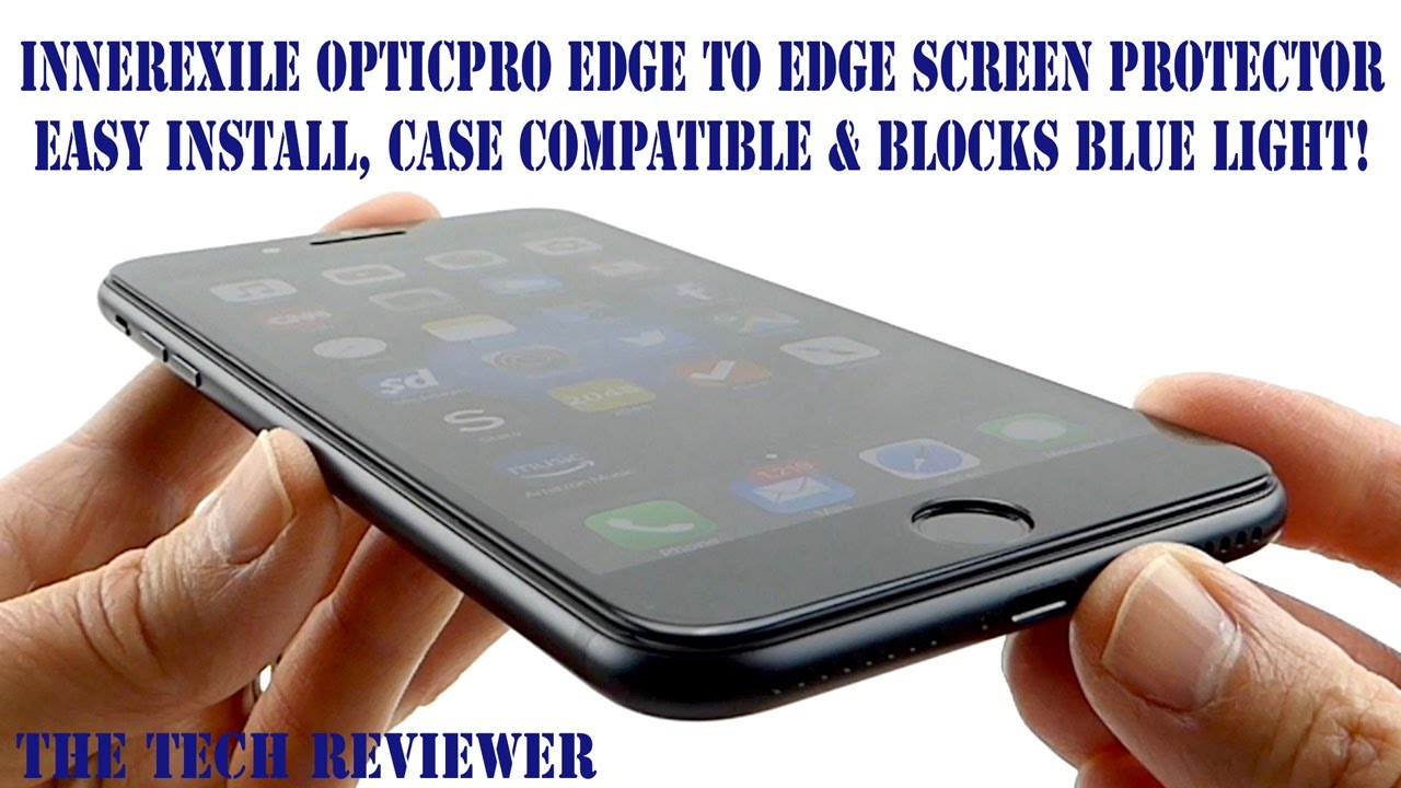 reputable site ec216 d5236 Easy Install, Edge to Edge & Excellent! OpticPro Tempered Glass Screen  Protector for iPhone 7 Plus!