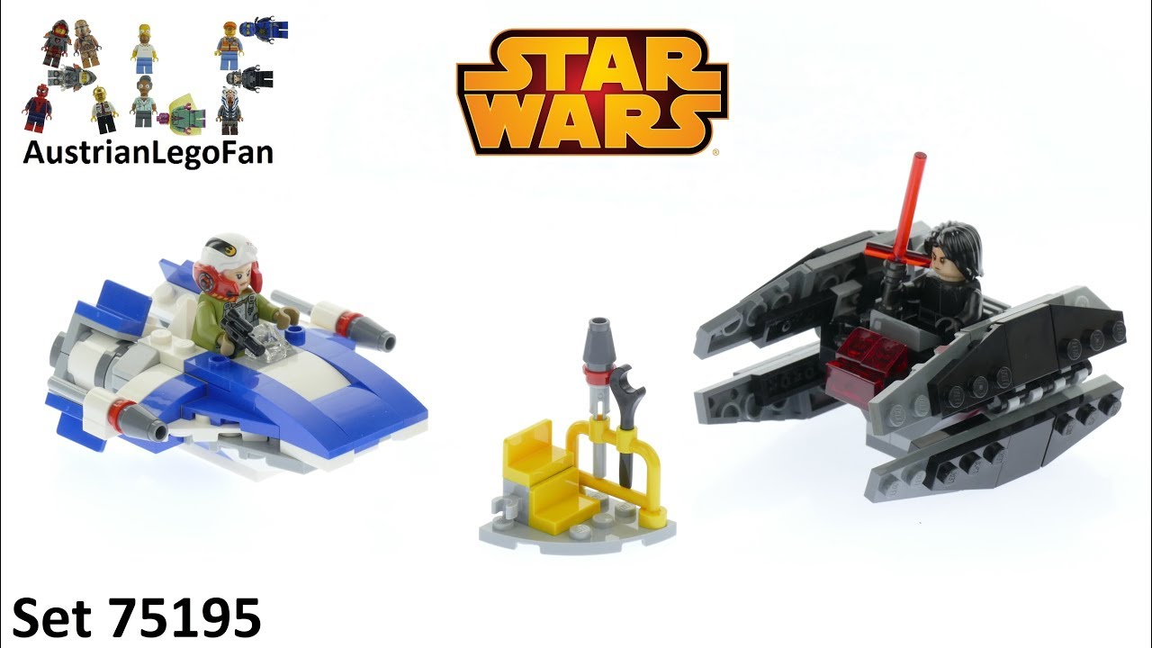 LEGO® SET 75196 Star Wars A-Wing™ vs TIE Silencer™ Microfighters
