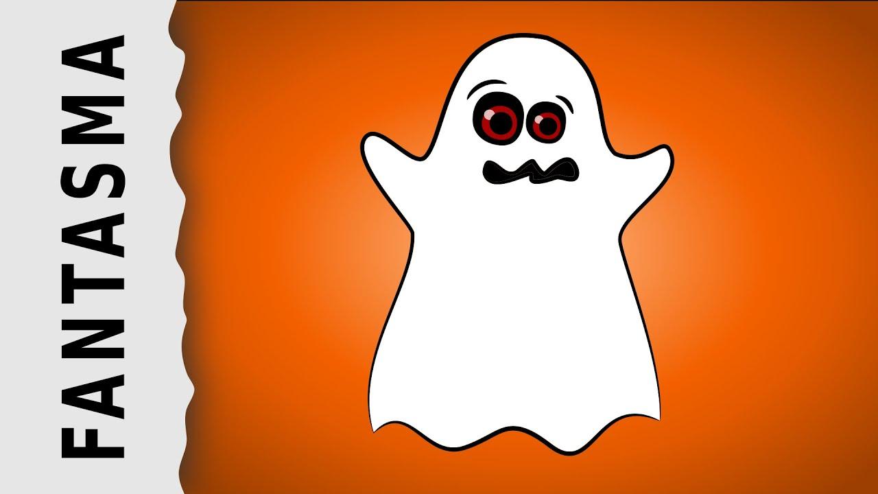 Dibujo De Fantasma Tenebroso Para Colorear: Cómo Dibujar Un Fantasma De Halloween
