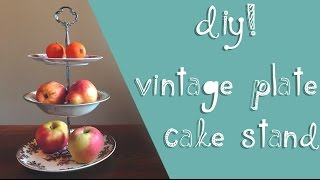 DIY Vintage Plate Cake Stand 🎂    Matilda Lundin