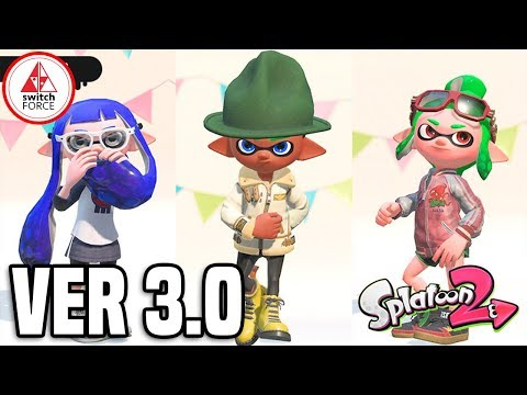 Splatoon 2 Version 3.0 - New Map And Clothing LIVE!