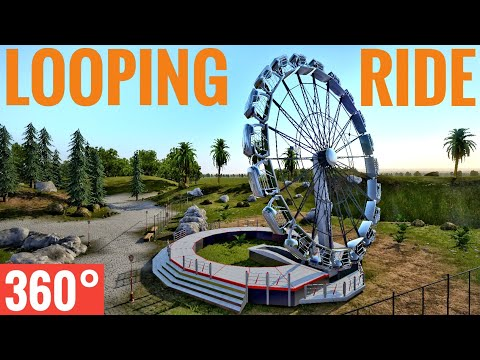 360° Rocket Wheel flat ride POV VR Enterprise thrilling looping roller coaster 360 도 롤러코스터 ジェットコースター