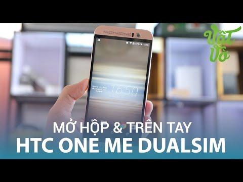 Vật Vờ  Mở hộp & đánh giá nhanh HTC One ME Dual sim: màn hình 2K, Boomsound, 3GB RAM