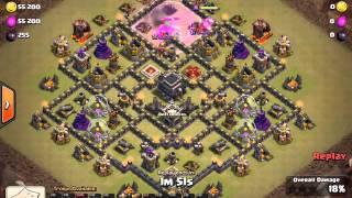 Clash of Clans - Clan War - Zaidthunder1 flawless gohog vs maxed TH9 - war attack