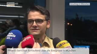 Schießerei in München: Erstes Statement des Pressesprechers der Polizei am 22.07.2016