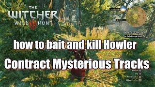 The Witcher 3 Wild Hunt - Mysterious Tracks how to bait and kill Howler