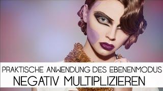 """Praktische Anwendung des Ebenenmodus """"Negativ Multiplizieren""""   Photoshop Tutorial (Deutsch )"""