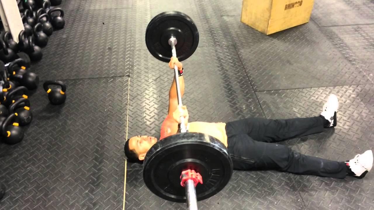 Barbell Floor Press Chest Exercise Youtube