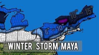 Major Winter Storm Maya 3rd Forecast