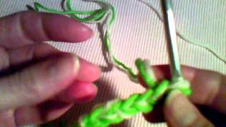 how to crochet two strands together