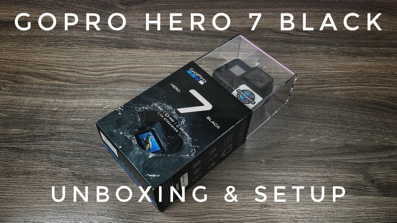 GoPro Hero 7 Black Unboxing & Setup - YouTube