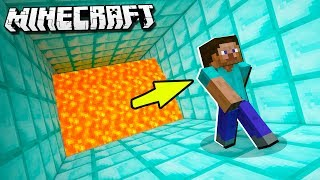 Escape a GIANT LAVA WALL in Minecraft!