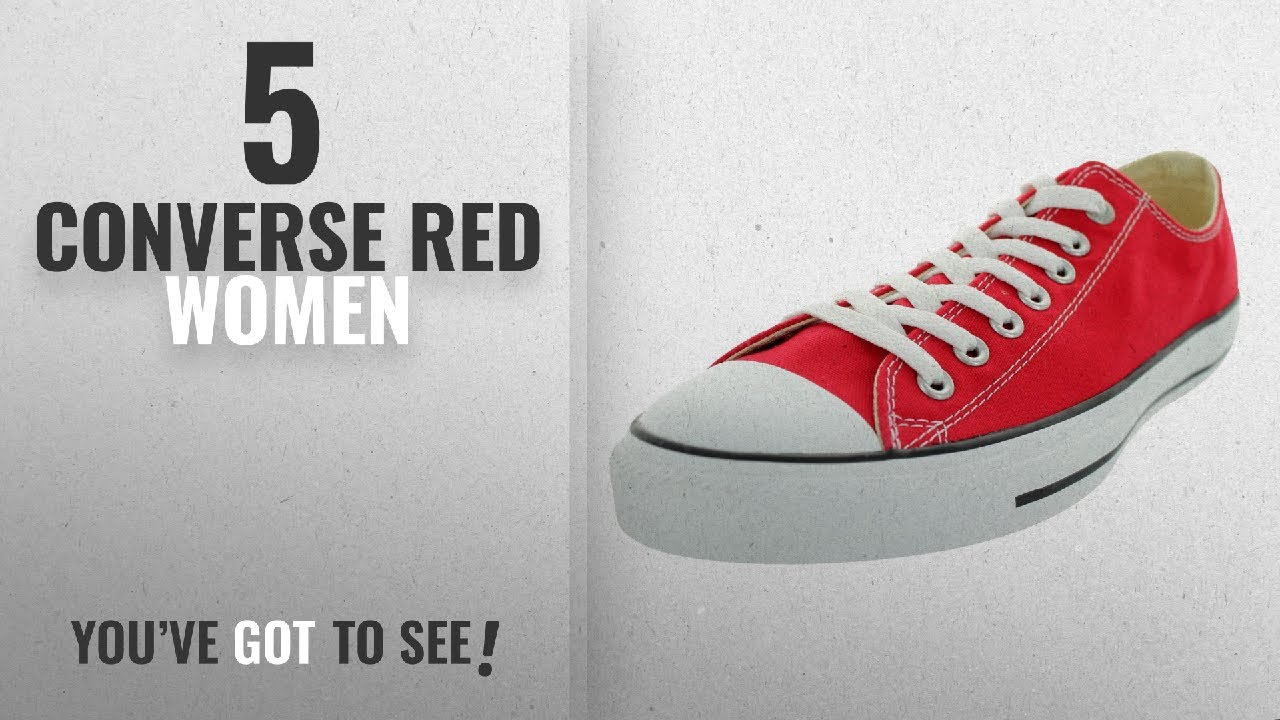 e02a80d29a3957 Top 5 Converse Red Women  2018   Converse Unisex Chuck Taylor All Star Low  Top Red Sneakers - 6