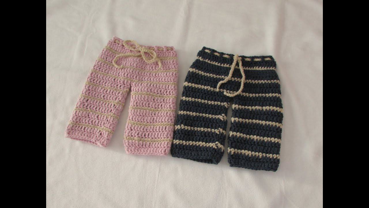 VERY EASY crochet pants / trousers / shorts tutorial - any size ...