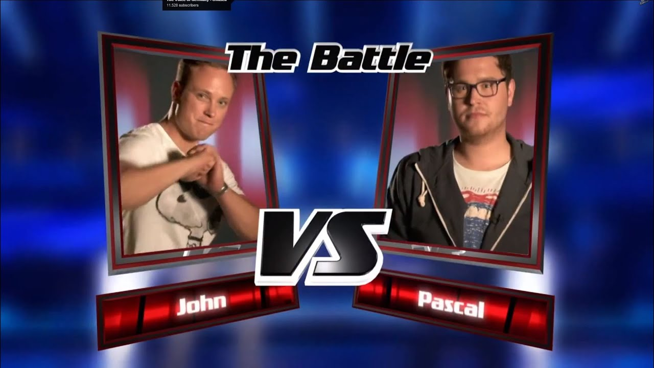 Pascal vs. John: Weil Das Morgen Noch So Ist   The Voice of Germany ...
