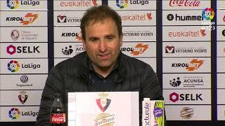 Rueda de prensa de Jagoba Arrasate tras el CA Osasuna vs Nàstic (1-0)