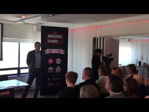 Press Presentation 2016 World Title Match Draughts (Dutch Language)