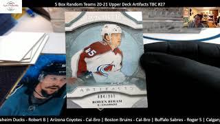 5 Box Random Teams 20 21 Upper Deck Artifacts TBC#27 2nd12 inner case