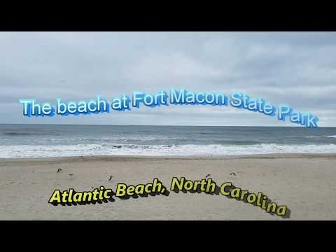 The beach at Fort Macon State Park in Atlantic Beach North Carolina