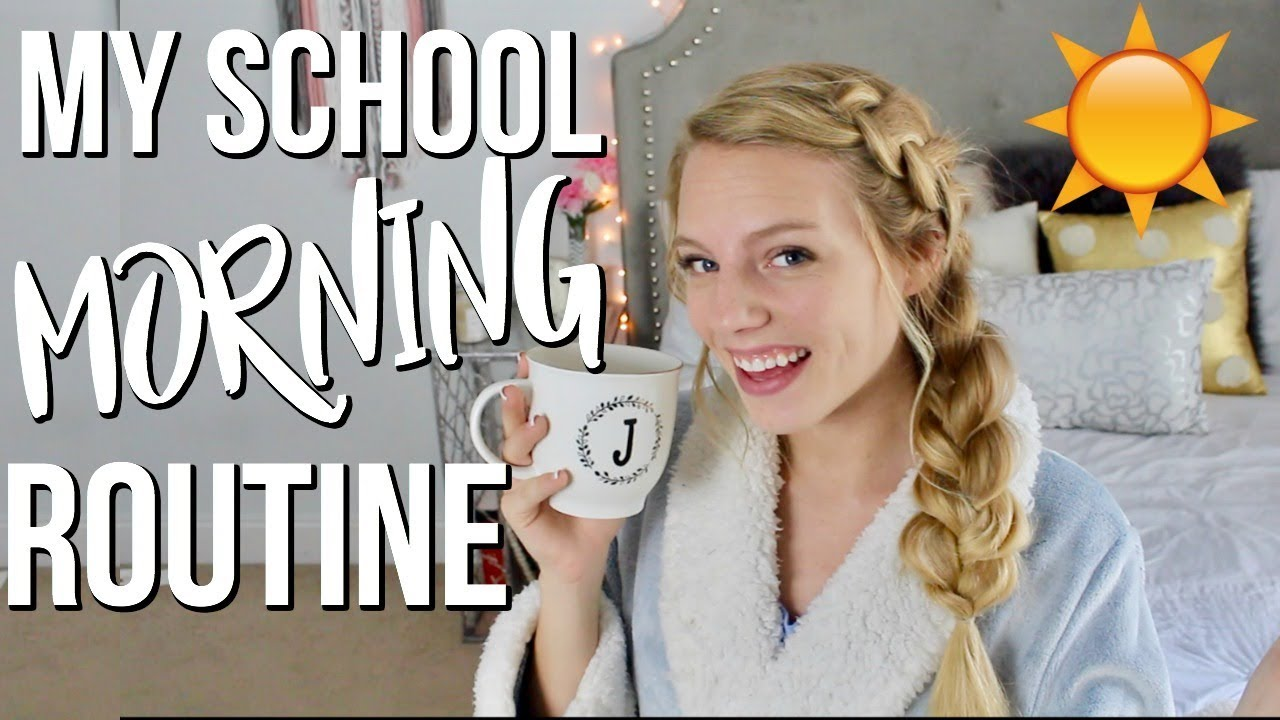My School Morning Routine   Senior Year 2018
