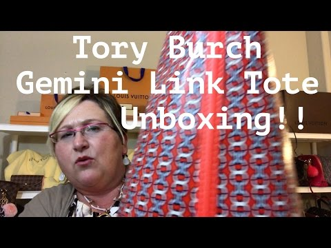 39d23818e Tory Burch Gemini Link Tote - Unboxing! - YouTube