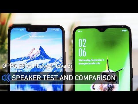 OPPO F9 vs Huawei Nova 3i Speaker Sound Test Comparison | Zeibiz