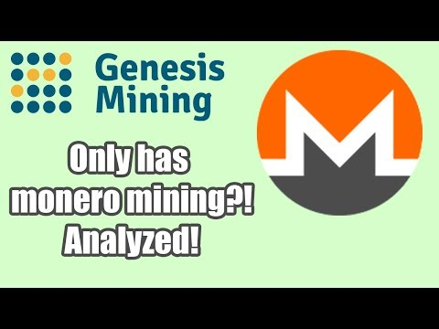 GENESIS MINING ONLY HAS MONERO?! | MONERO CLOUD MINING ANALYZED!