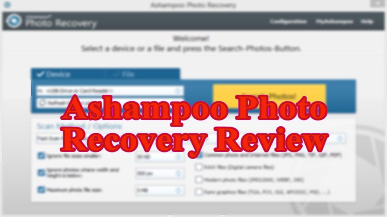 Ashampoo Photo Recovery Program Review Youtube