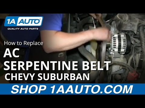 hqdefault how to install replace air conditioning compressor belt 2000 06 chevy suburban