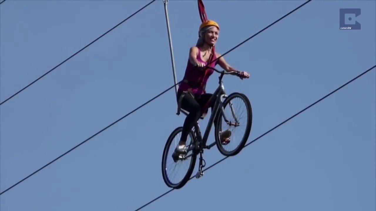 Zip Cycle Zip Line India Adventures Zip Line Cycle À¤¸ À¤ª À¤° À¤Ÿ À¤¸ À¤‡à¤• À¤² Riding A Bike Zipline Youtube