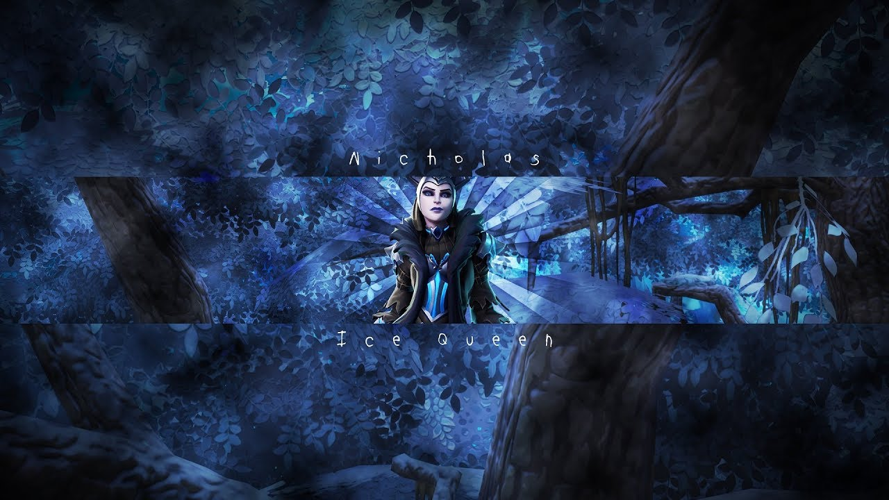 Fortnite Banner Template No Text Ice Queen Channel Art