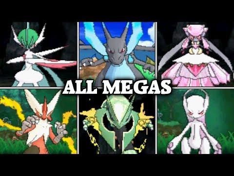 Pokémon Sun & Moon - All 48 Mega Evolutions + Moves