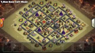 ▶War Base Th9/Aldea de guerra Ayuntamiento 9 Anti 3 Estrellas/ Clash Of Clans