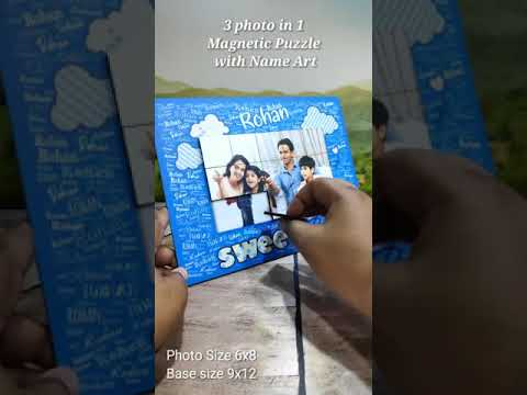 SWEET BOY PUZZLE PHOTO WITH TEXT NAME & MAGNETIC PUZZLE PHOTO 12X8INCH   PERSONALIZED PHOTO GIFTS