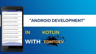 Kotlin Android Tutorial -  Recycler View Dynamic Load Data