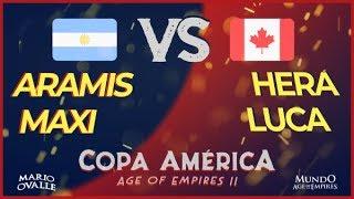 ARGENTINA VS CANADA 3 LUGAR COPA AMERICA AGE OF EMPIRES 2