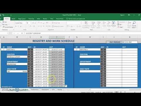 Philippine Payroll Calculator Microsoft Excel - YouTube