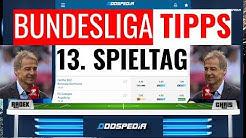 BUNDESLIGA VORHERSAGE TIPPS #13 - Prognose und Tipphilfe zum 13. Spieltag 2019/2020