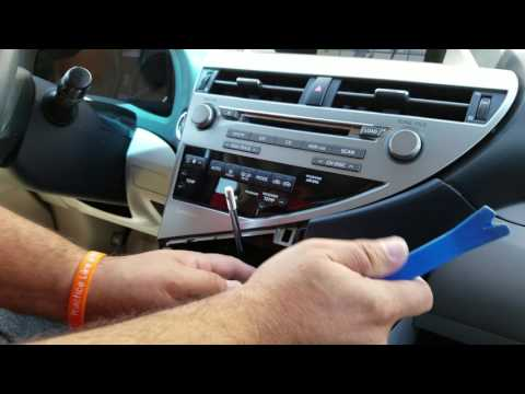 How to Remove Radio / Navigation from Lexus RX350 2010 for Repair.