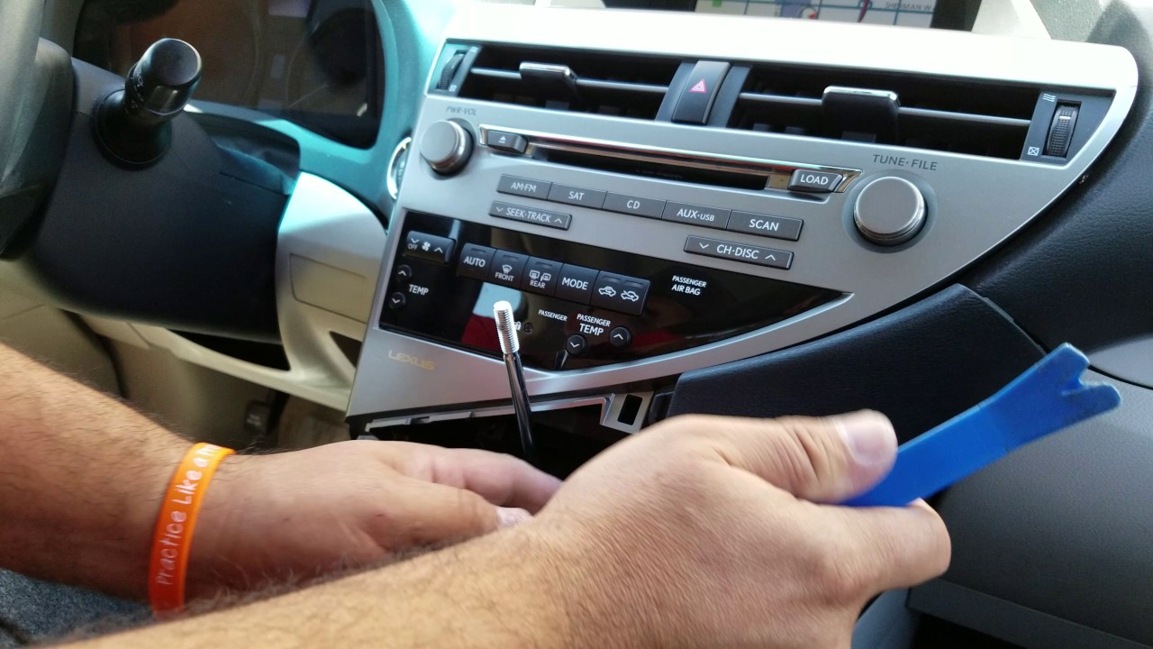 hight resolution of how to remove radio navigation from lexus rx350 2010 for repair