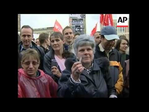 Germany's Left Party holds final rally