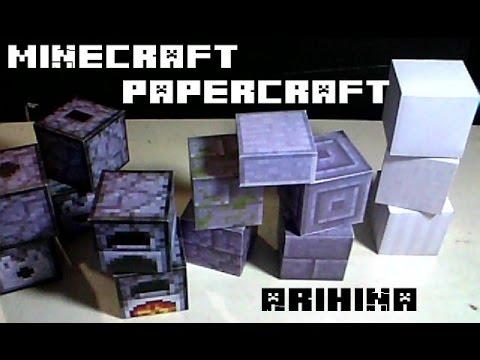 Unos poquitos bloques nuevos papercraft minecraft | Doovi  Unos poquitos b...