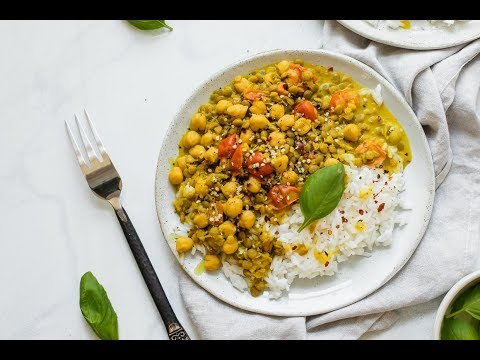 The Best Coconut Lentil and Chickpea Curry