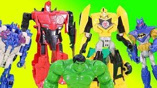 Transformers Toys Magic Surprise Game w/ Optimus Bumblebee Chase Batman & Minions!