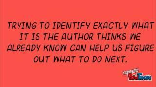 BQ #2: ماذا يعني الكاتب أعتقد أن أعرفه ؟